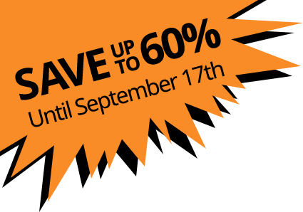 Save 60% until September 17th