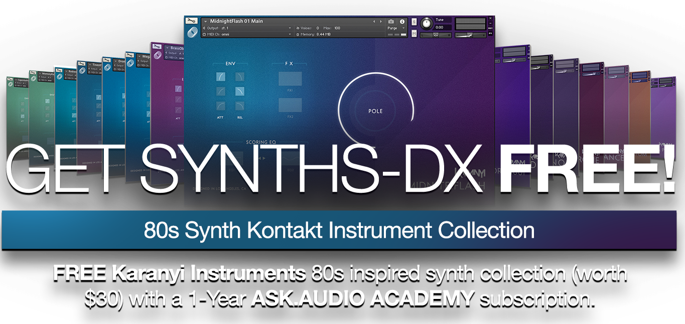 Free Synths DX with one year sub